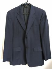 Men's Size 40R Gianni Manzoni Tendenza Super 120s Navy Blue Pure Wool Blazer