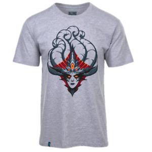 World Of Warcraft Men's T-Shirt Fanatics Large Print T-Shirt - Grey - New