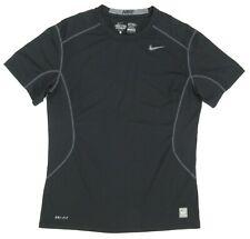 Men's Nike Pro Combat Fitted 2.0 Short Sleeve Crew Shirt Large Black 449787-012