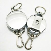 Retractable Pull Key Ring ID Badge Lanyard Name Tag Card Holder Recoil Reel Belt