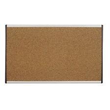"Quartet Bulletin Board, 30"" x 18"", Corkboard, Cubicle, Arc, Aluminum Frame (ARCB"