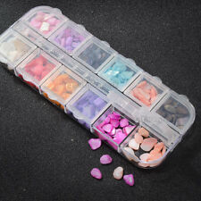 12 Colors Shell Crushed Stones Gravel Flakes 3D DIY Charm Nail Art Decoration
