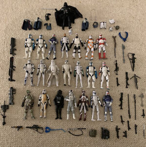Star Wars Clone Trooper Figures - Job lot Of 22 Figures & Weapons!