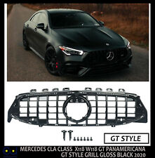 FOR MERCEDES CLA CLASS W118 C118 2020+ GT STYLE PANAMERICANA GRILLE GLOSSY BLACK