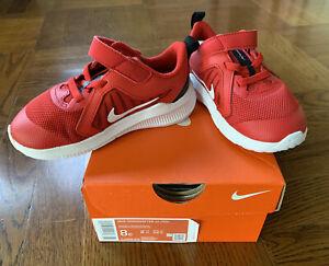 NIB Nike Downshifter 10 (TDV) Toddler Shoes CJ2068 600 - Red -  Size 8C