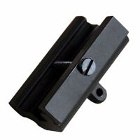 Rifle Gun Bipod Sling Swivel Adapter Weaver Picatinny Rail Mount Base Black