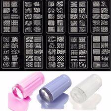 Sello Placa De Metal Estampado Uñas Nail Stamping Template Plate Manicura KIT