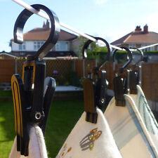 10pcs/Set Laundry Hooks Clothes Pins Hangers Dry Drip Plastic Clips Hanging Us