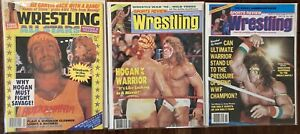 Vintage Magazine Lot of 3 Sports Review & Wrestling All Stars 1989 1990 wwf nwa