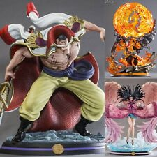 Tsume Art White Beard + Ace + Nico Robin Hqs Statue One Piece