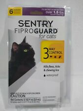 Sentry Fiproguard Plus Flea & Tick Topical for Cats, 1.5 lbs & Over, 6 Month �