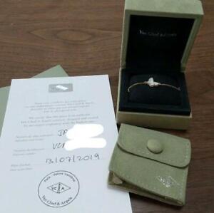 Van Cleef & Arpels Sweet Alhambra Bracelet Papillon 18K YG Mother of Pearl Used