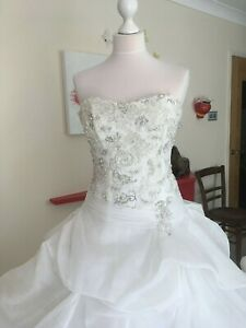 Maggie Sottero couture WEDDING DRESS UK 8-10 usa 6 Ivory princess RRP £ 2,500