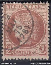 FRANCE CERES N° 51 AVEC CACHET A DATE DU 09/05/1875
