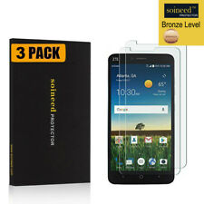 [3-Pack]SOINEED Tempered Glass Screen Protector For ZTE Blade X Max Z983 Cricket