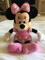 "DISNEY MINNIE MOUSE PINK POLKA DOT PLUSH 18"" STUFFED DOLL GIFT PRESENT GIRL"