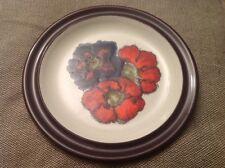 Denby Pottery Stoneware Poppy Design Side/Salad Plate Red/Purple 21cm Diameter