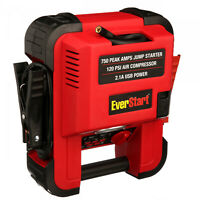Auto Battery Jump Starter Air Compressor 750 Peak Amps Portable Car Charger