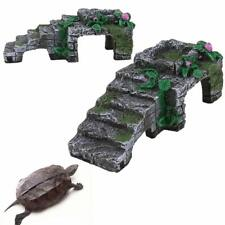 Resin Turtle Reptile Platform Basking Ramp Tank Water Aquatic Climb Ornament