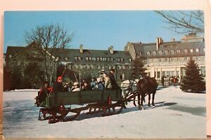 Pennsylvania PA Pocono Mountains Skytop Lodge Sleigh Ride Postcard Old Vintage