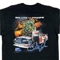 Chase Authentics Dale Earnhardt Jr Salute The Troops NASCAR T-Shirt Mens Large