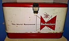 New listing Original Vintage Budweiser Metal Cooler World Renowned King of Beers w/ Ice Pack