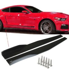 2x Universal Black Car Side Skirt Rocker Splitters Winglet Wings Canard Diffuser