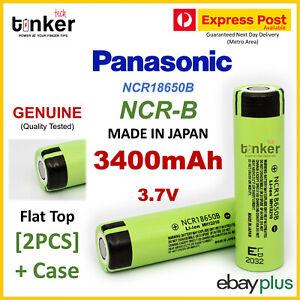 2X Panasonic NCR 18650B 3400mAh HIGH CAPACITY + PLASTIC CASE