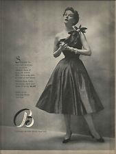 50's Bloomingdales Green Room Fashion Ad  1951