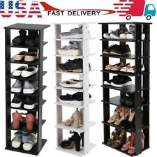 7 Tiers Wooden Shoes Racks Entryway Shoes Storage Stand Shoe Shelf Organizer