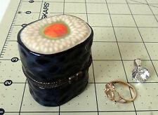 Sushi Porcelain trinket box ring model display fake food jewelry japanese cerami