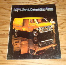 Original 1972 Ford Econoline Van Sales Brochure 72
