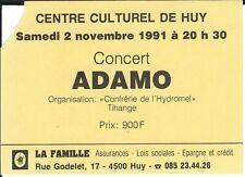 Ticket Concert: Salvatore Adamo (2/11/1991) Centre Culturel Huy