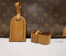 Authentic Louis Vuitton Large Luggage Name ID Tag w/ Strap and Poignet #6