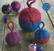 KNITTING PATTERN 3 Christmas Tree Bauble Decorations Striped Large Small PATTERN