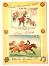 Cartolina Illustrata Pronostici Totocalcio Ippica E Lotto Buon Natale