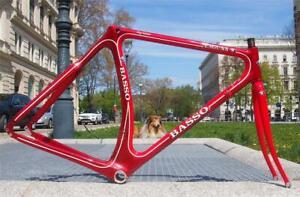 Vintage USED 80s BASSO LAGUNA Monocoque Carbon Road Bike 1992 Frame Fork 52cm