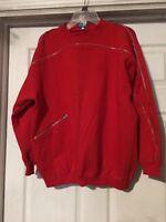 Stylin' Retro CLUB COCONUT GROVE Red Zipper Crewneck++SIZE L++