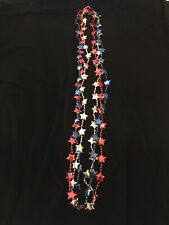 Red, White & Blue July 4th Mardi Gras Beads Necklaces New Orleans Parade Throw