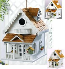 New listing Two Story Happy Home Birdhouse *Clean Out Hole, Balcony & Decor * Nib