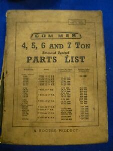 COMMER 4 5 6 & 7 Ton Lorry  ILLUSTRATED SPARE PARTS LIST MANUAL C HX CD etc