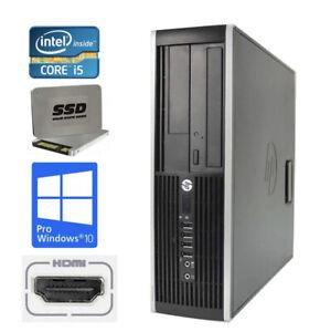 HP 8300 SFF QV966AV Elite Intel i5-3470 4 x3,2Ghz 4GB RAM 120GB SSD Win10 P HDMI