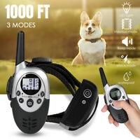 Waterproof 1000 Yards Dog Shock Training Collar for Large Med Small Dogs+Remote