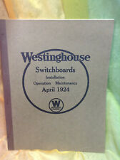 1924 Westinghouse Switchboards Installation Guide