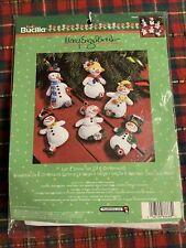 Bucilla Mary Engelbreit Snowman Felt Christmas Ornament Craft Kit Let It Snow