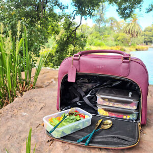 Mealami Meal Prep Handbag (Berry)   Management Laptop Bag Travel Gym