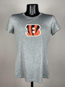 Women's Nike Dri-Fit Cincinnati Bengals Gray Short-Sleeve Graphic Logo Shirt S