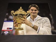 Roger Federer Signed 11x14 Photo Tennis Superstar Switzerland PSA/DNA #4
