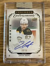 Jakub Zboril 2018-19 Upper Deck Clear Cut Embedded Endorsement Auto /25 Rookie