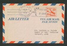 PHILIPPINES 30c AIR LETTER First Day of Issue 1 Mar 1949 Manila posted AUSTRALIA